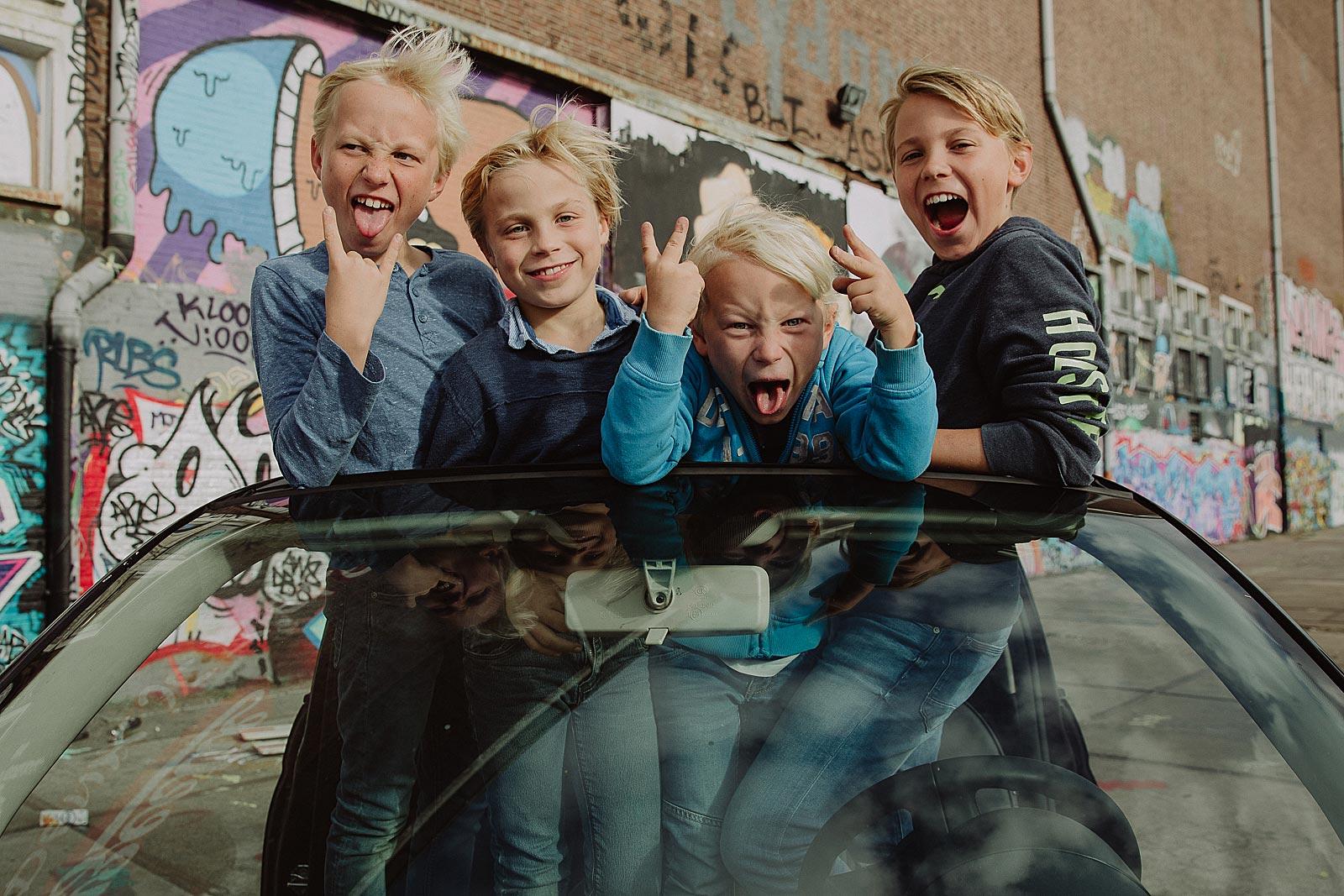 ongedwongen kinderfotoshoot amsterdam