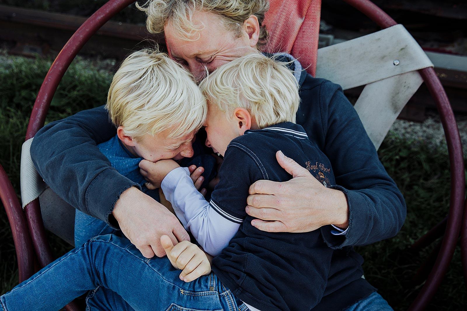 papa en kinderen fotoshoot amsterdam