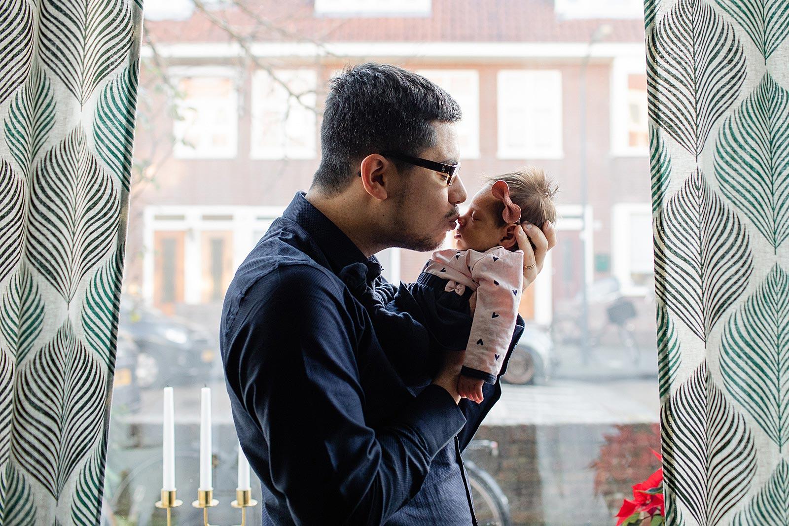 papa en baby fotoshoot amsterdam