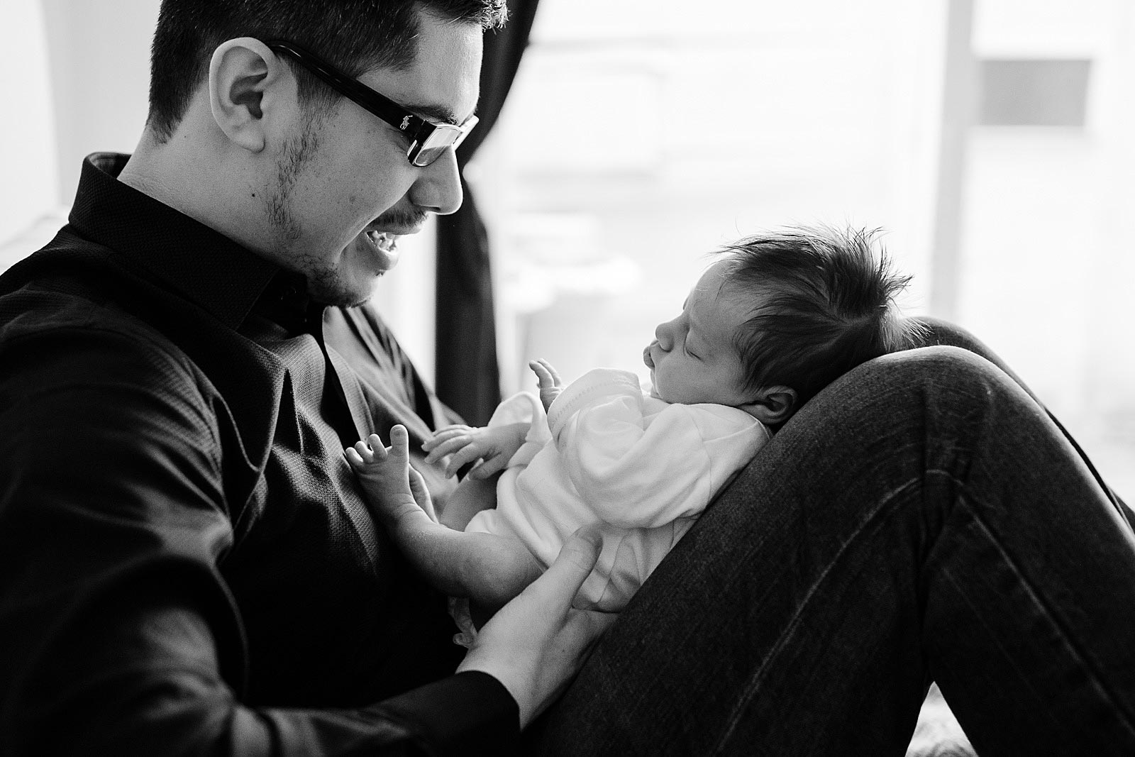 newbornshoot met papa amsterdam