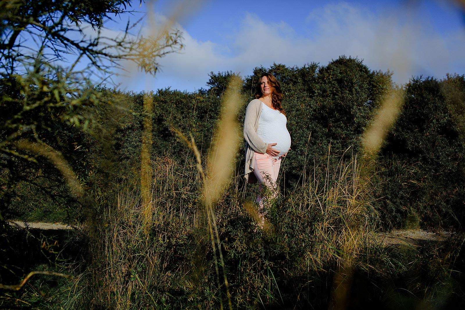 stoere zwangerschapsfotoshoot overveen