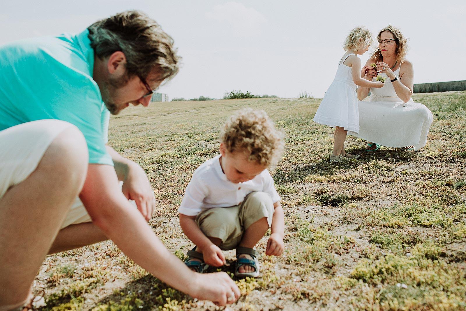 bloemen plukken familieshoot amsterdam