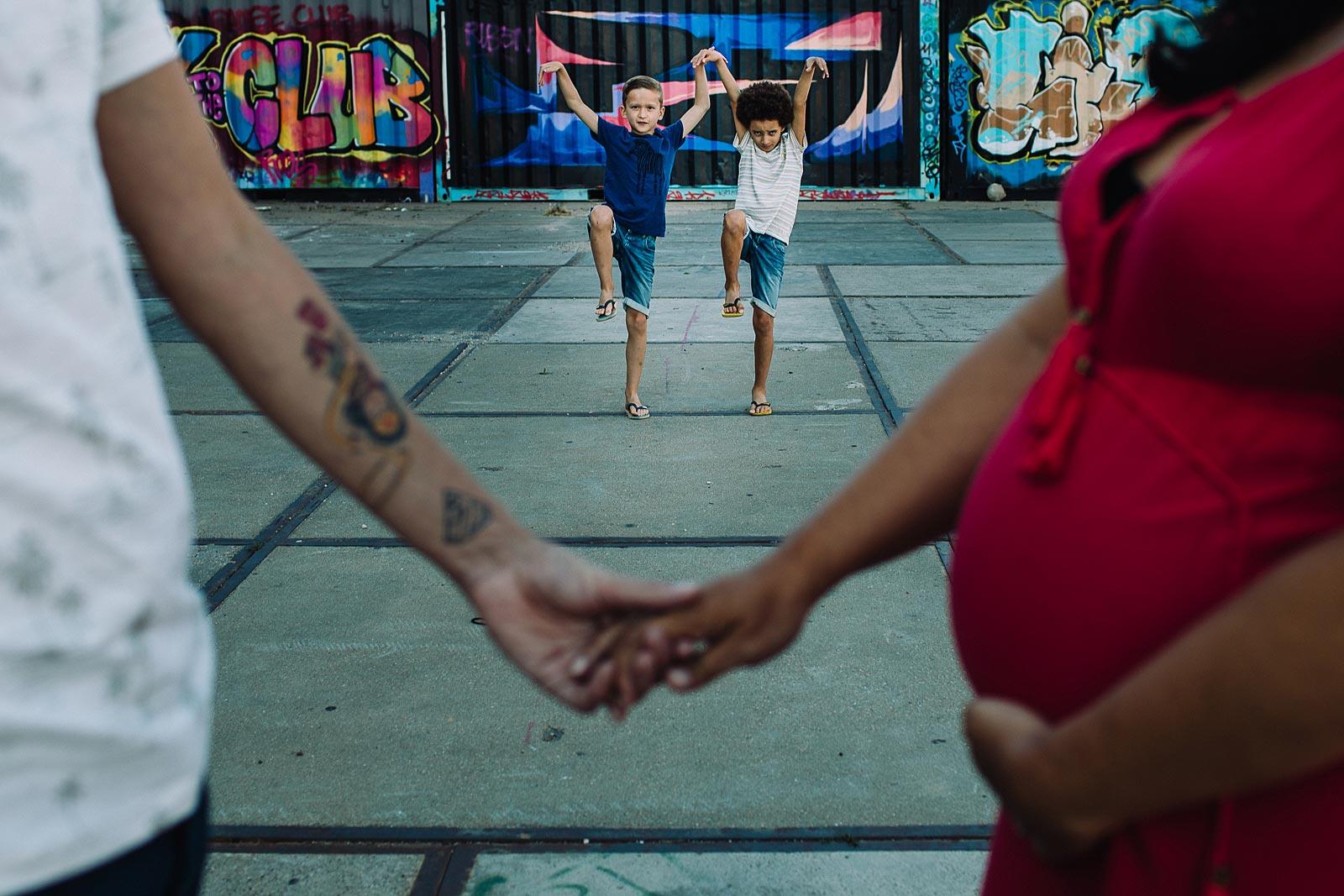 stoere zwangerschapsshoot amsterdam