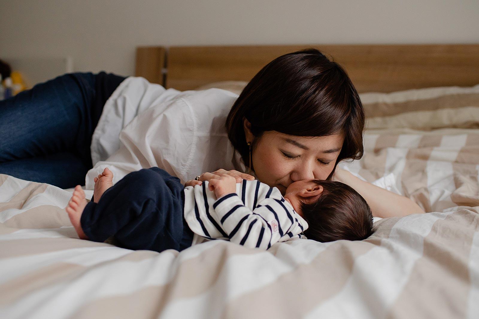 mama en baby fotoshoot