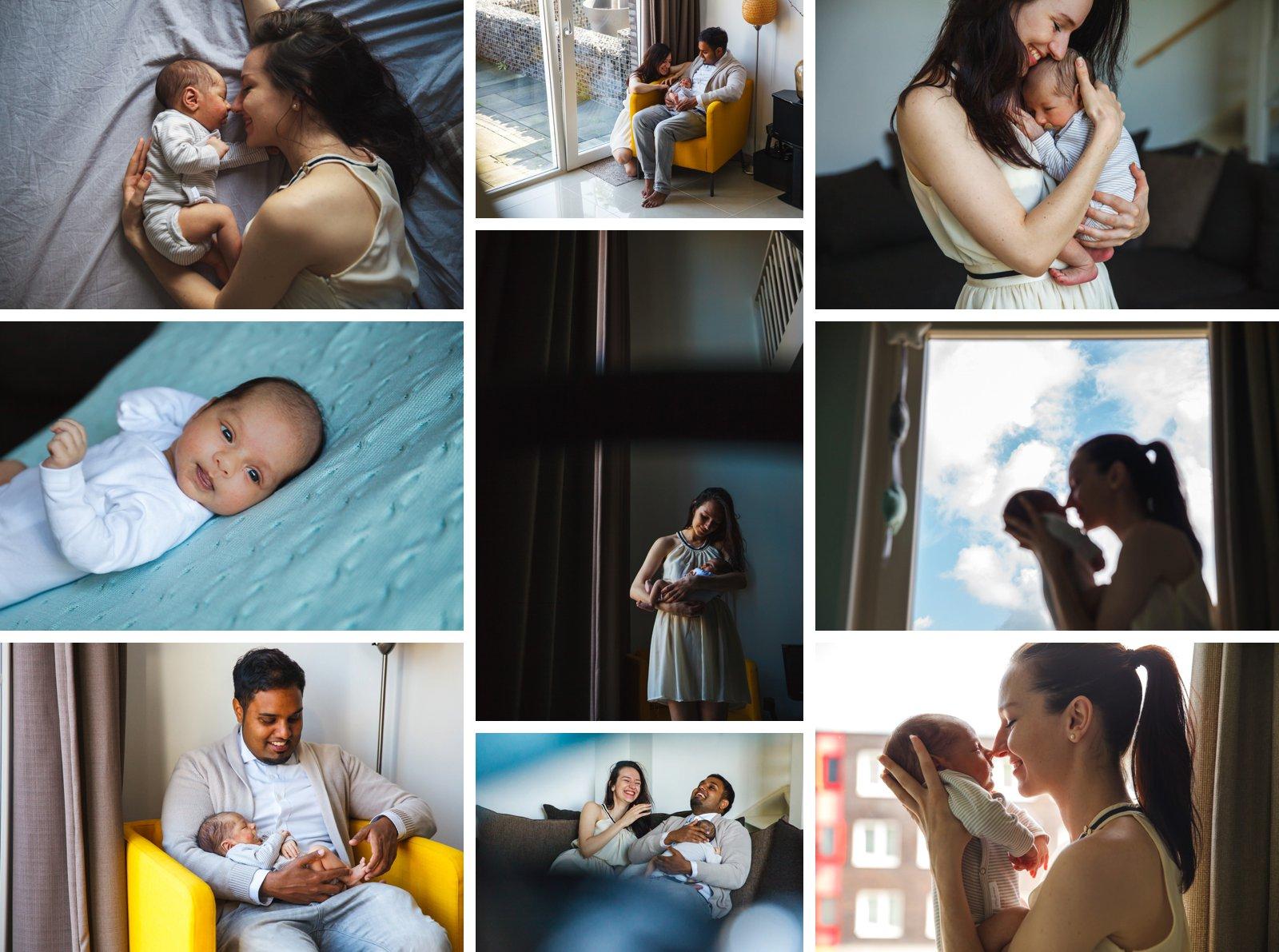 newborn fotografie purmerend ouders met baby