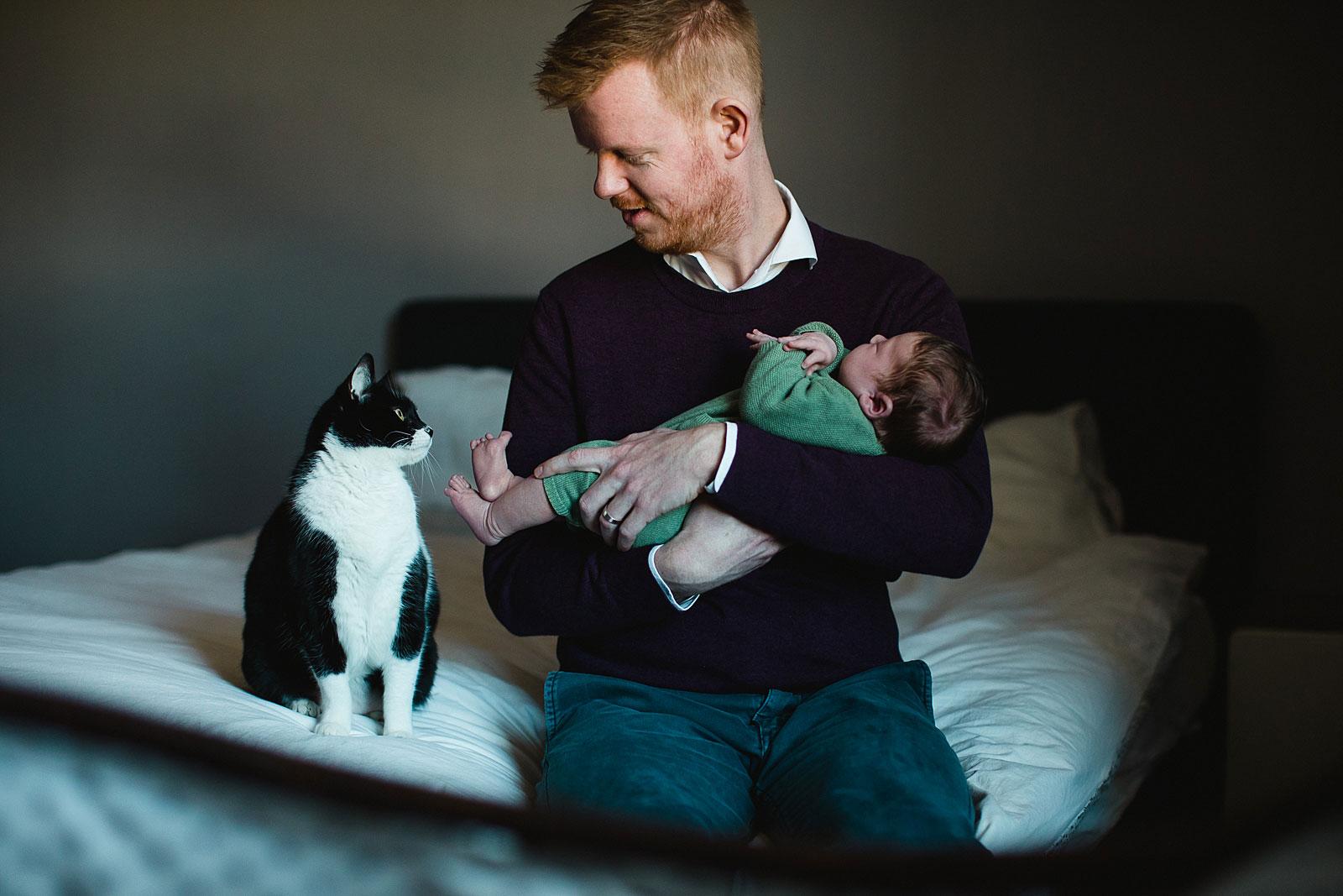 newborn shoot utrecht met huisdier
